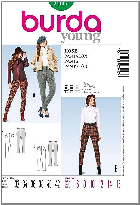 Burda b7017 Pants Sewing Pattern 19 x 13 cm: Amazon.co.uk: Kitchen ...