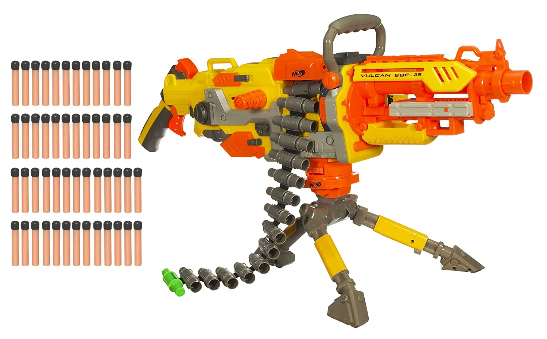 NERF N STRIKE | VULCAN EBF-25 | TOY MACHINE GUN | COMPLETE