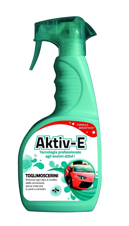 LINEA AKTIV-E: TOGLIMOSCERINI 750ml Rimuove ogni tipo di insetto dalla carrozzeria, senza intaccare le parti a contatto. FRA-BER