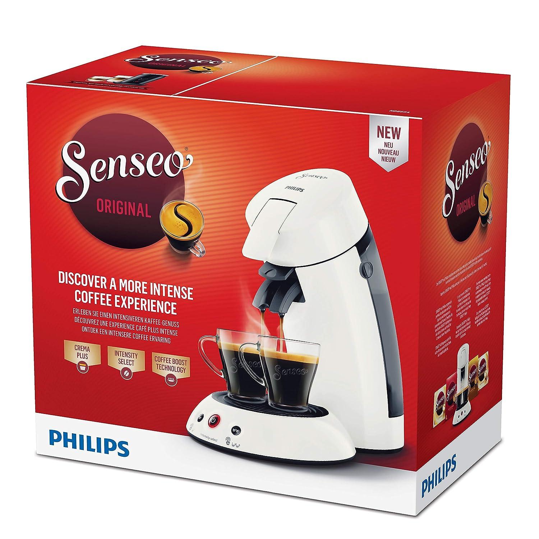 Senseo Original HD6554/11 - Cafetera (Independiente, Máquina de café en cápsulas, 0,7 L, Dosis de café, 1450 W, Blanco): Amazon.es: Hogar