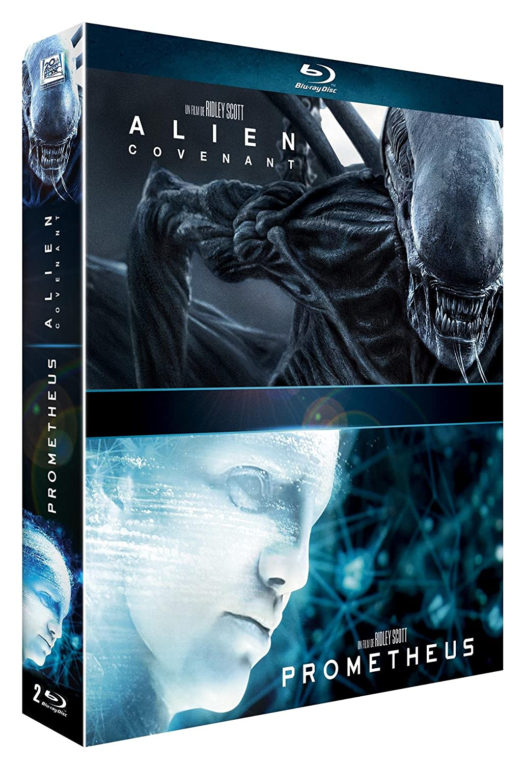 Alien : Covenant + Prometheus [Francia] [Blu-ray]: Amazon.es: Michael Fassbender, Katherine Waterston, Billy Crudup, Noomi Rapace, Charlize Theron, Guy Pearce, Ridley Scott, Michael Fassbender, Katherine Waterston: Cine y Series TV