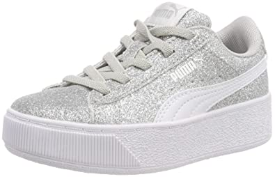 2c3d41f6b0e Puma Girls  Vikky Platform Glitz Ac Ps Low-Top Sneakers  Amazon.co ...