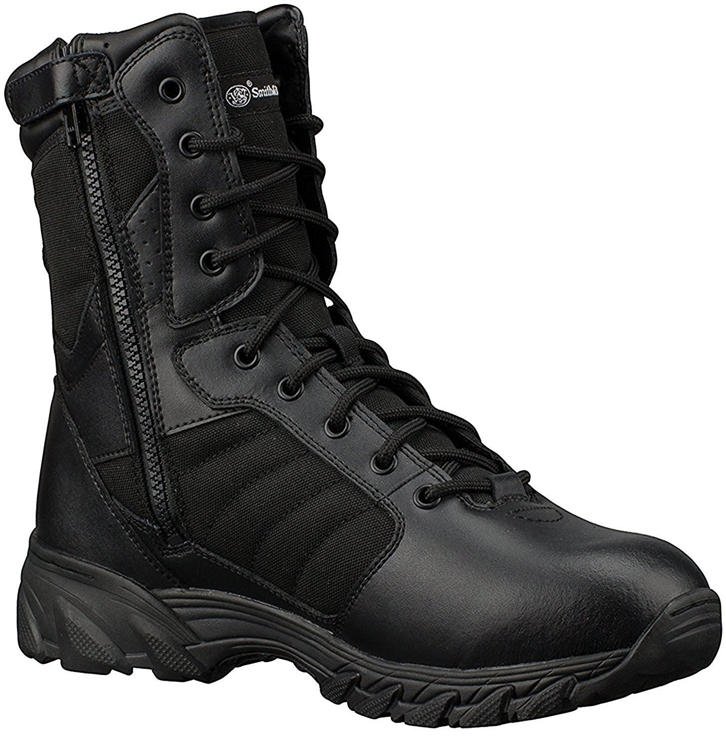 Smith & Wesson Footwear Men's Breach 2.0 Tactical Size Zip Boots, Black, 9