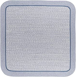 product image for Rhody Rug CC98R120X120S 10 ft. Casual Comfort Sunrise Blue Banded Braided Rug44; Square