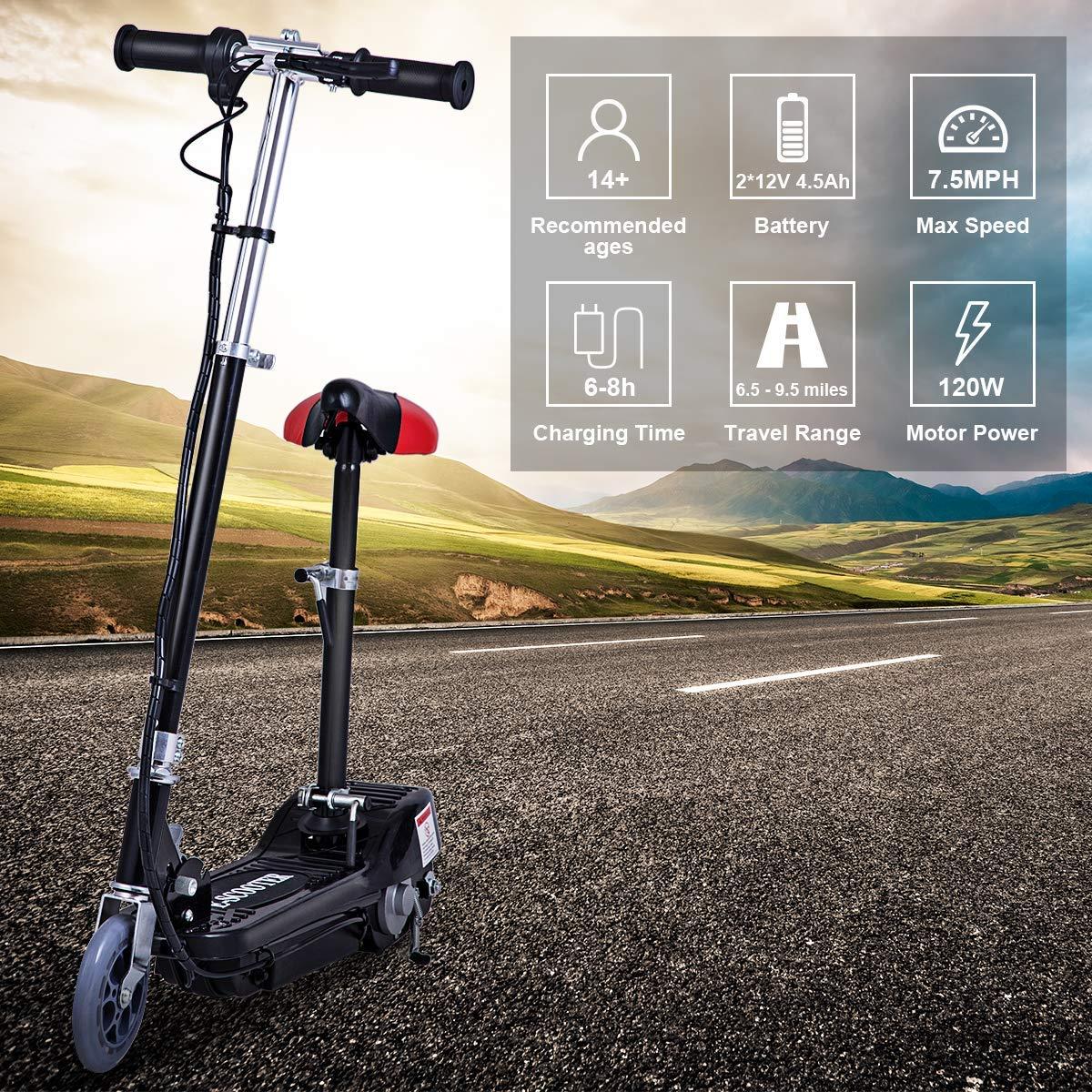 Amazon.com : Costzon Electric Scooter, 24 Volt Lightweight ...