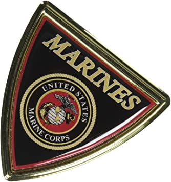 U.S Marine Corps Shield Chrome Auto Emblem Mitchell Proffitt AC-16