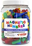 Wedge Whiteboards - Tub of 156 Magnetic Numbers and Symbols, Numeracy, Educational, Maths, Pre-School, Leaning, Teaching Aid