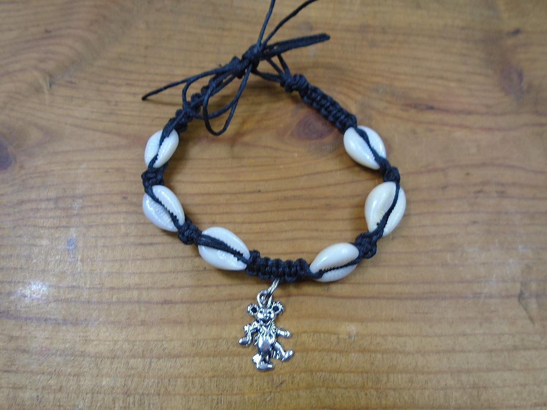 BEACH HEMP JEWELRY Grateful Dead Bear Rainbow Hemp Bracelet Handmade In USA