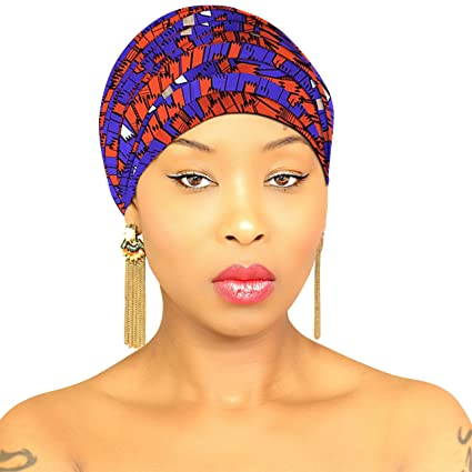 ab6492d75 Royal Head Wraps Purple-Orange: Premium Large Head Wrap, Head Scarves, Head  Scarf, Head Bands For Women, 100% Cotton Fabric: Amazon.in: Health &  Personal ...
