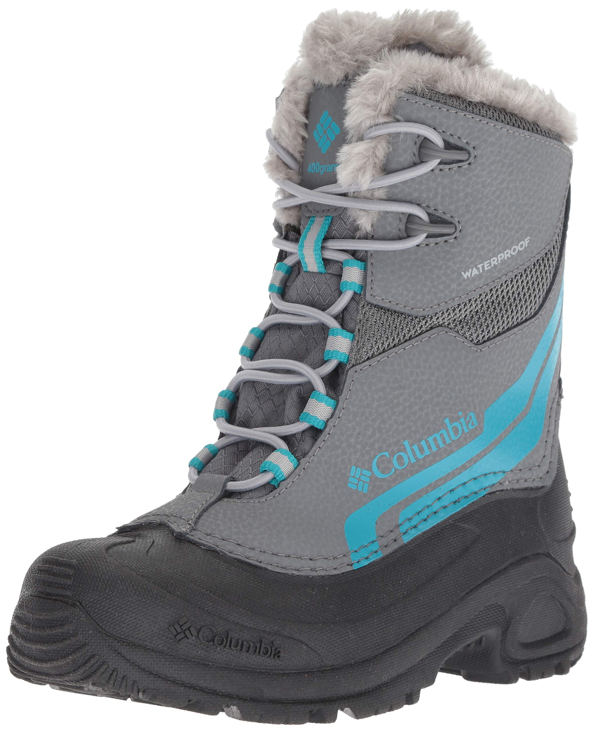 ae39cdb70c9 Columbia Girls' Youth Bugaboot Plus IV Omni-Heat Snow Boot, ti Grey Steel,  Pacific Rim, 7 Regular US Big Kid