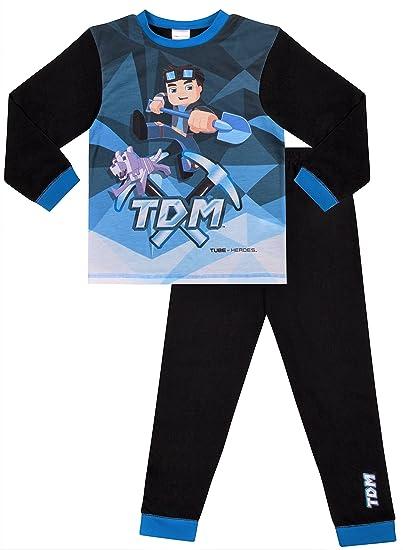 2fb40e4f7f Dan TDM You Tube Heroes Pyjamas The Diamond Minecart 7 to 13 Years   Amazon.co.uk  Clothing