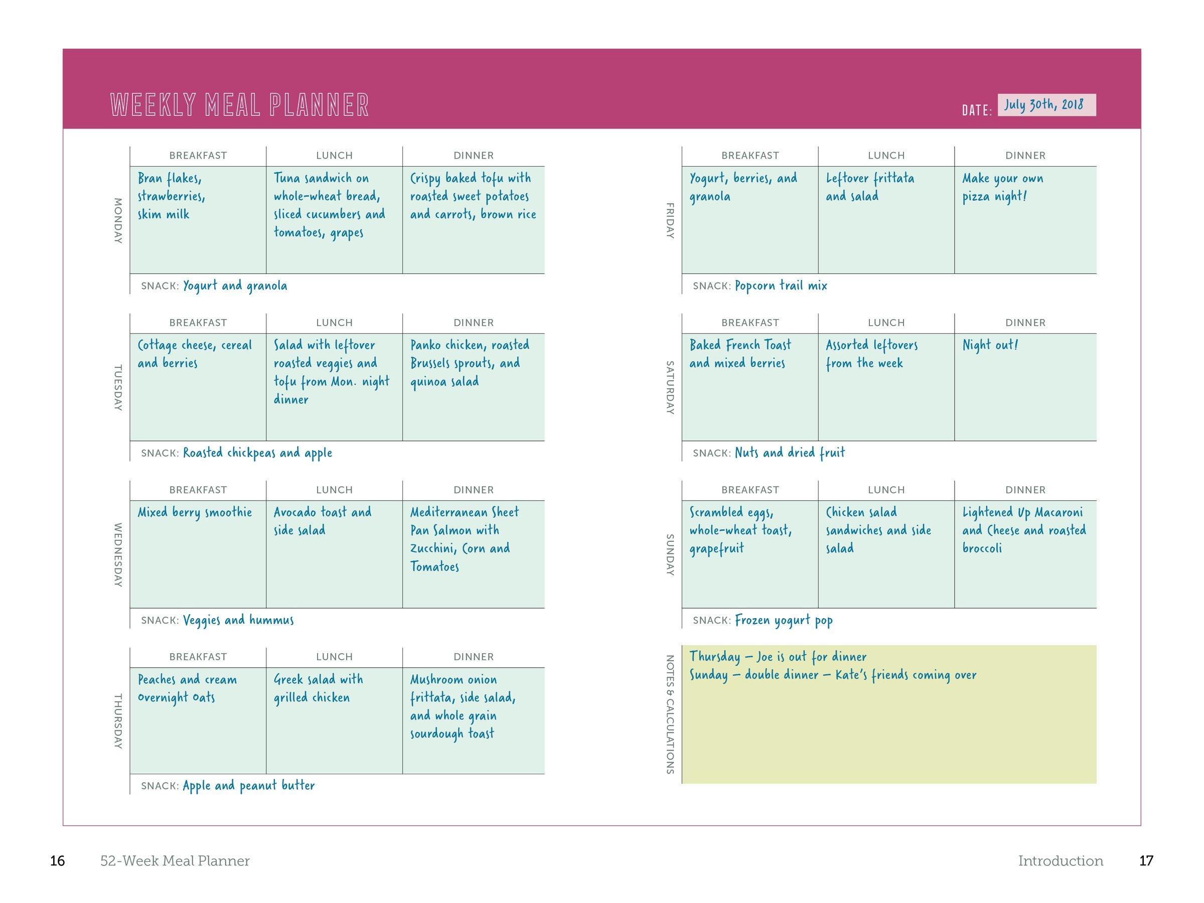 52 Week Meal Planner The Complete Guide To Planning Menus