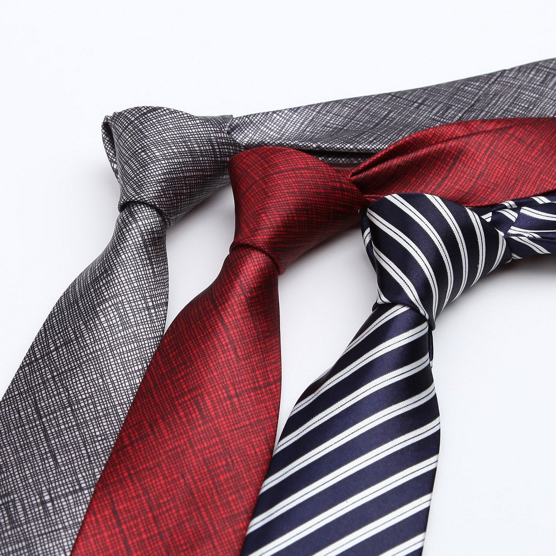 KT3066 Love Shopstyle Slim Ties Polyester Fantastic World 3 Pack Skinny Ties Set by Dan Smith by Dan Smith (Image #2)