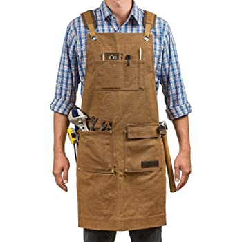 American Woodworker Shop Apron Denim Tool Aprons Amazon Com