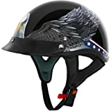 VCAN Cruiser Patriotic Eagle USA Graphics Motorcycle Half Helmet
