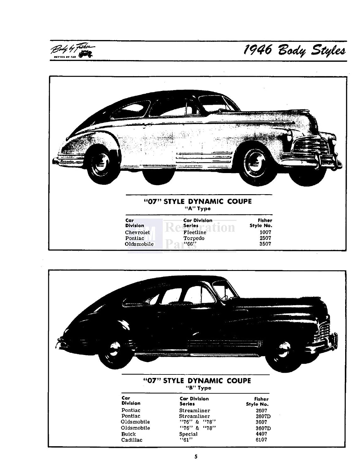 Amazon.com: 1946 1947 1948 Buick Cadillac Body Service Shop Repair Manual  Glass Trim Panels: Automotive