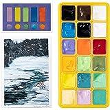 Arrtx Gouache Paint Set, 18 Colors x 30ml Jelly Cup Design Gouache with Palette, Gouache Watercolor Painting Suitable for Hob