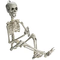 Prextex 19-in Posable Halloween Skeleton Deals