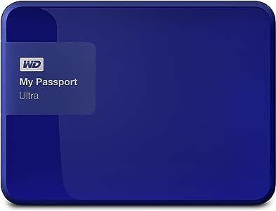 WD 1TB My Passport Ultra USB 3.0 Secure Portable External Hard Drive, Blue (WDBGPU0010BBL-NESN) [Old Model]
