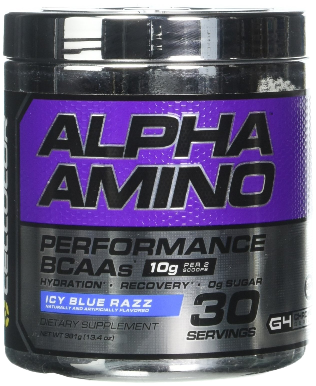 Cellucor Alpha Amino Performance BCAA Powder, BCAAs & Essential Amino Acids for Recovery, Icy Blue Razz, 30 Servings