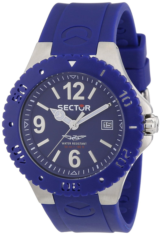 Sector R3251111005 - Reloj analógico de Cuarzo para Hombre con Correa de Caucho, Color Azul