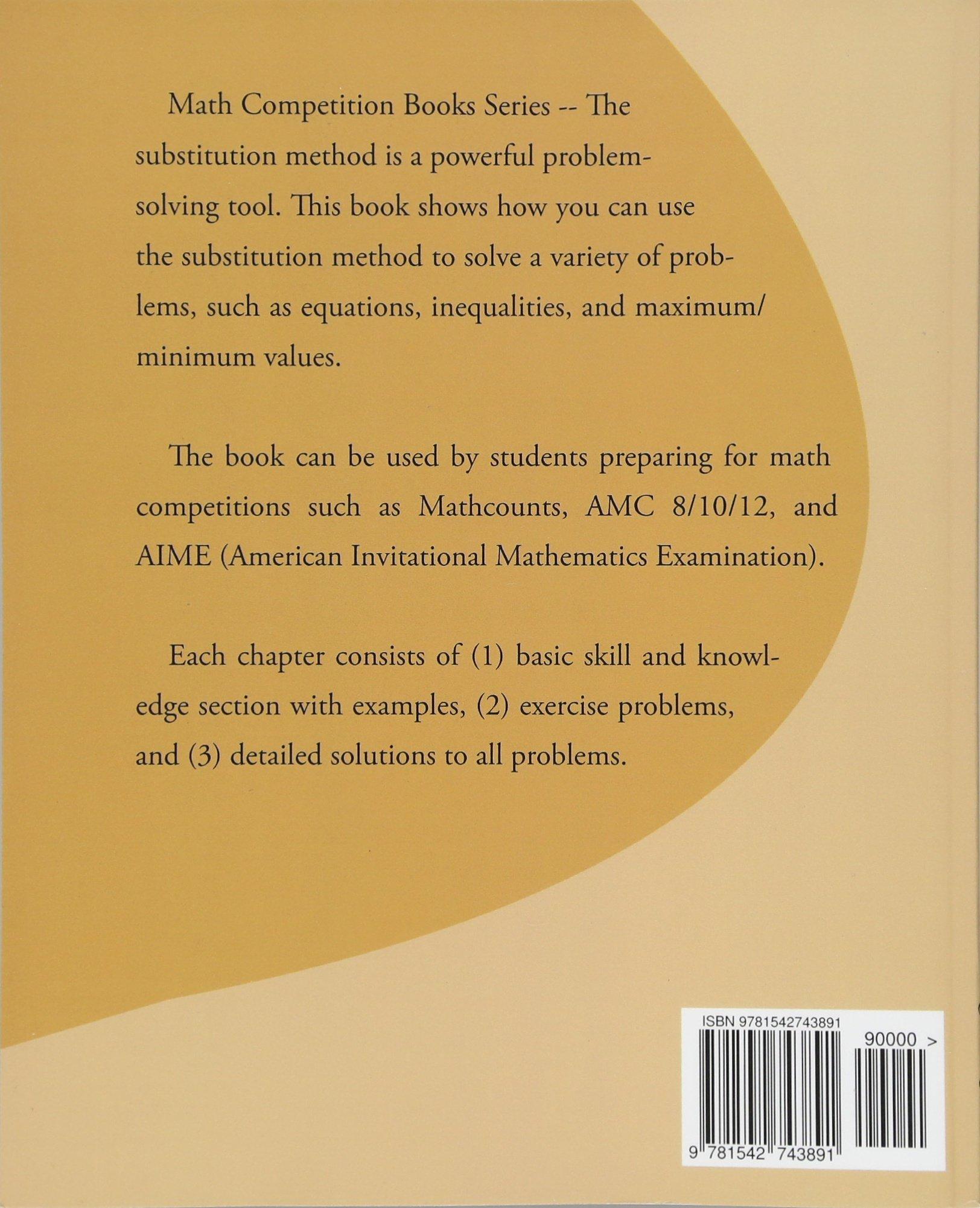 Amazon com: The Substitution Method (9781542743891