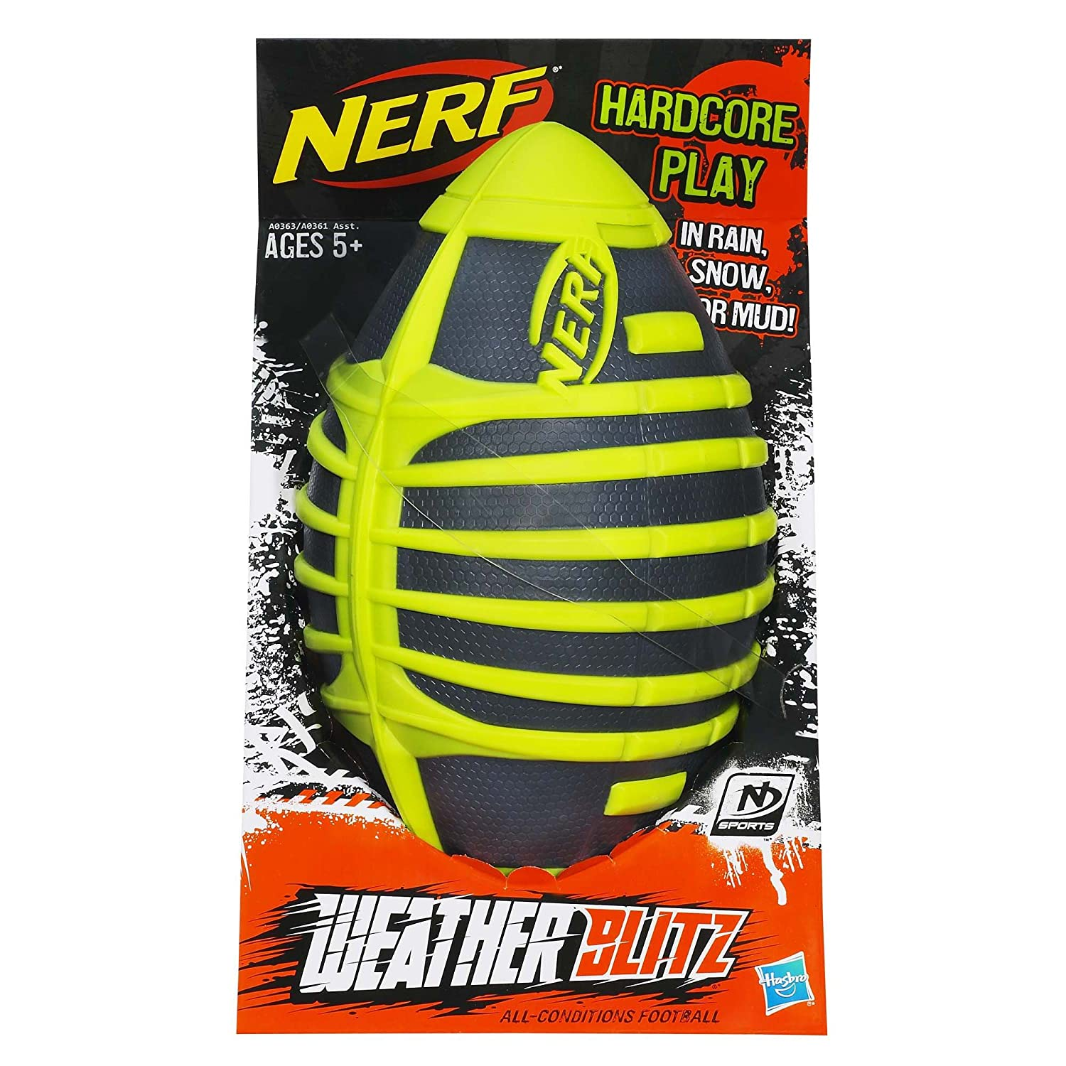 Amazon.com: Nerf N-Sports Weather Blitz All Conditions Football ...
