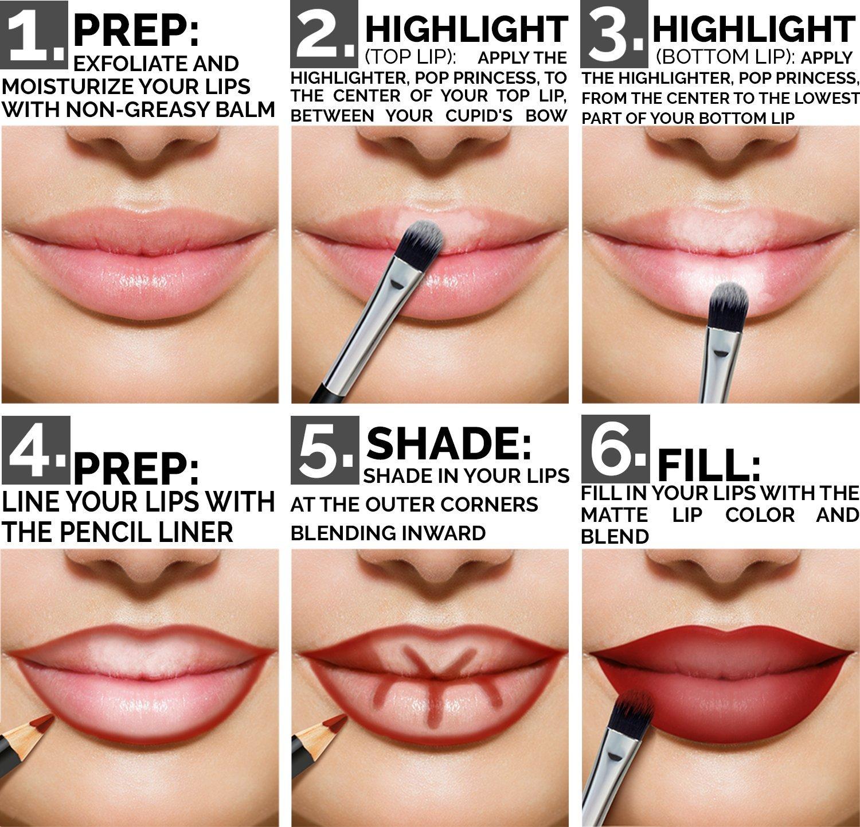 db03d532 Aesthetica Matte Lip Contour Kit - Lipstick Palette Set Includes 6 Lip  Colors, 4 Lip Liners, Lip Brush...