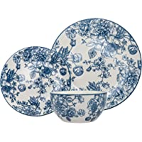 Dinnerware Set Banbury Porcelain Dinner Plate, Salad Plate, Soup Bowl - 12 Piece Set