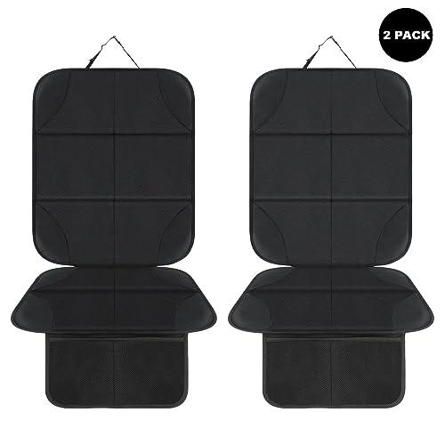 AOAFUN 2 Pack Autositzschoner, mit dicksten Polsterung, besten Schutz für Autositze,Wasserabweisend Autositzauflage Sitzschoner Auto Kindersitz Sitzschutz Auto Kinder Universell Passform (schwarz)