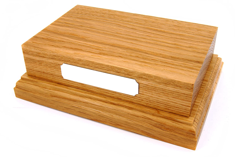 Solid Oak Wooden Display Plinth Wood Base 6x4 No Plaque Amazoncouk Kitchen Home