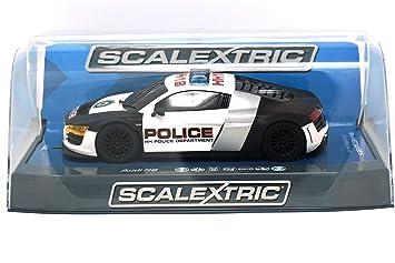 Scalextric Audi R8 Police Car Black White