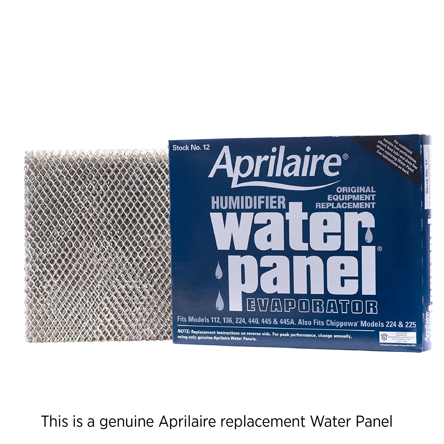 Aprilaire 12 Replacement Water Panel for Whole House Humidifier Models 112, 224, 225, 440, 445, 448, ((Pack of 1)