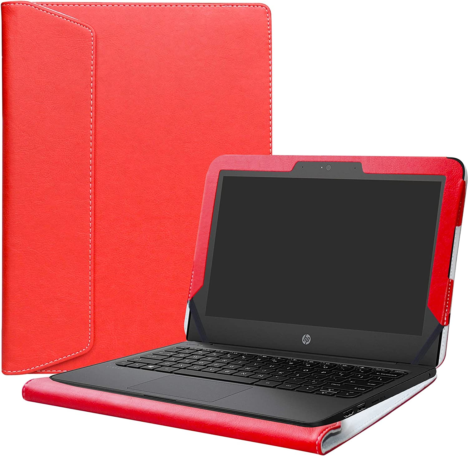 "Alapmk Protective Case Cover for 11.6"" HP Stream 11 Pro G5/G4/G3/G2/G1/11-ahXXX/11-rXXX/11-dXXX/11-yXXX Series Laptop(Warning:Not fit HP Stream x360 11),Red"
