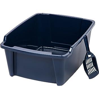 Amazon Com Iris Open Top Cat Litter Box Kit With Shield