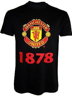 a07cd621f23 Manchester United FC Herren T-Shirt mit originalem Fußball-Wappen ...
