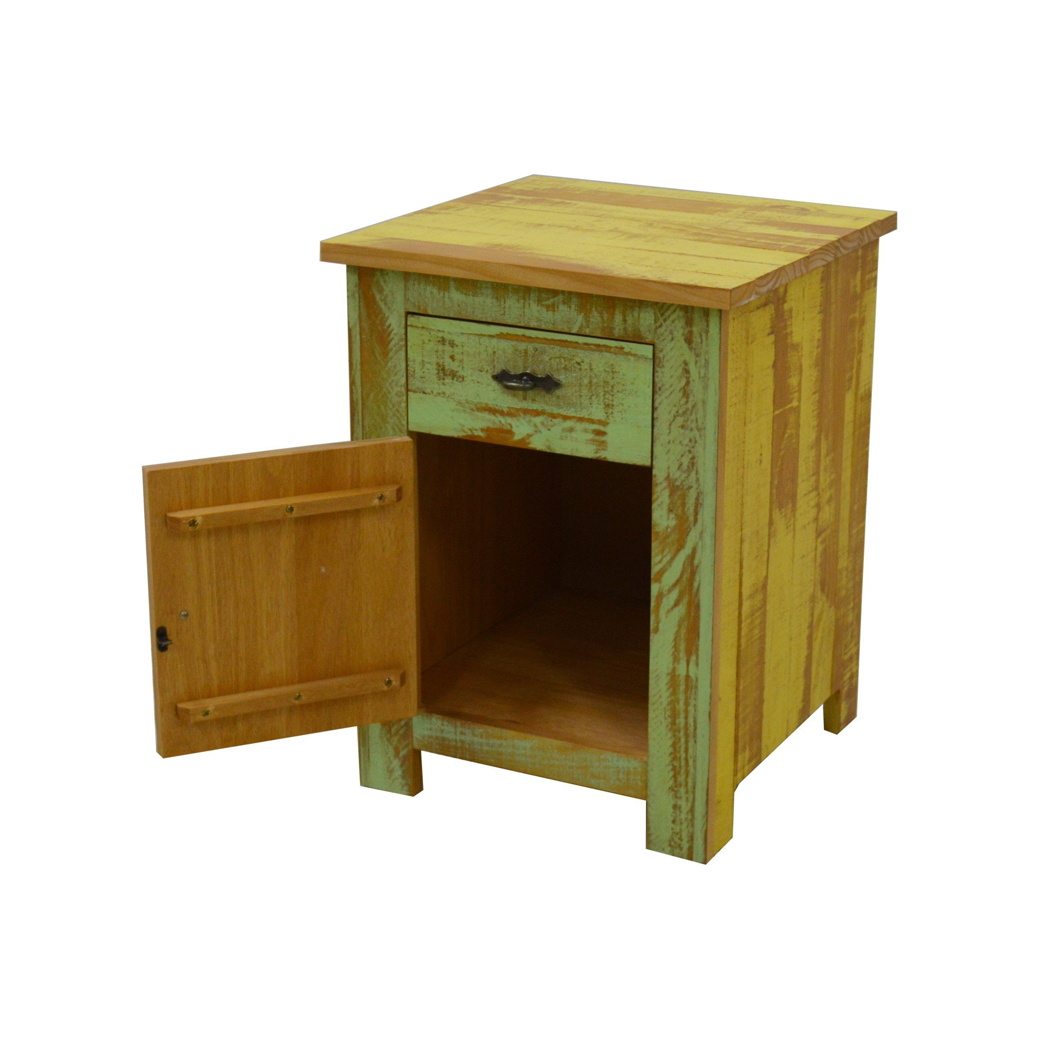 Reclaimed Accent Cabinet Solid Wood Distressed Color by The Beach House Design (Image #5)