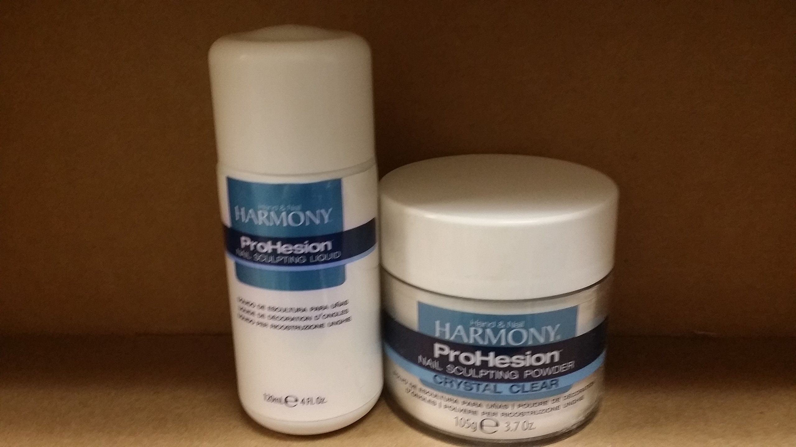 Harmony Prohesion Nail Sculpting Liquid 4 oz & Powder - CRYSTAL CLEAR 3.7 oz DUO