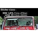 Weiß One Life Live It Sticker Vinyl Amazonde Auto