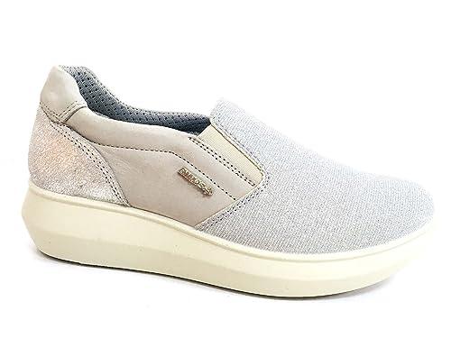 ENVAL SOFT 1270711 Zapatillas Mocasines Zapatos Planos Mujer Nobuck Perla: Amazon.es: Zapatos y complementos