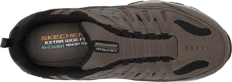 Skechers Mens After Burn Low Top Bungee Walking Shoes Brown