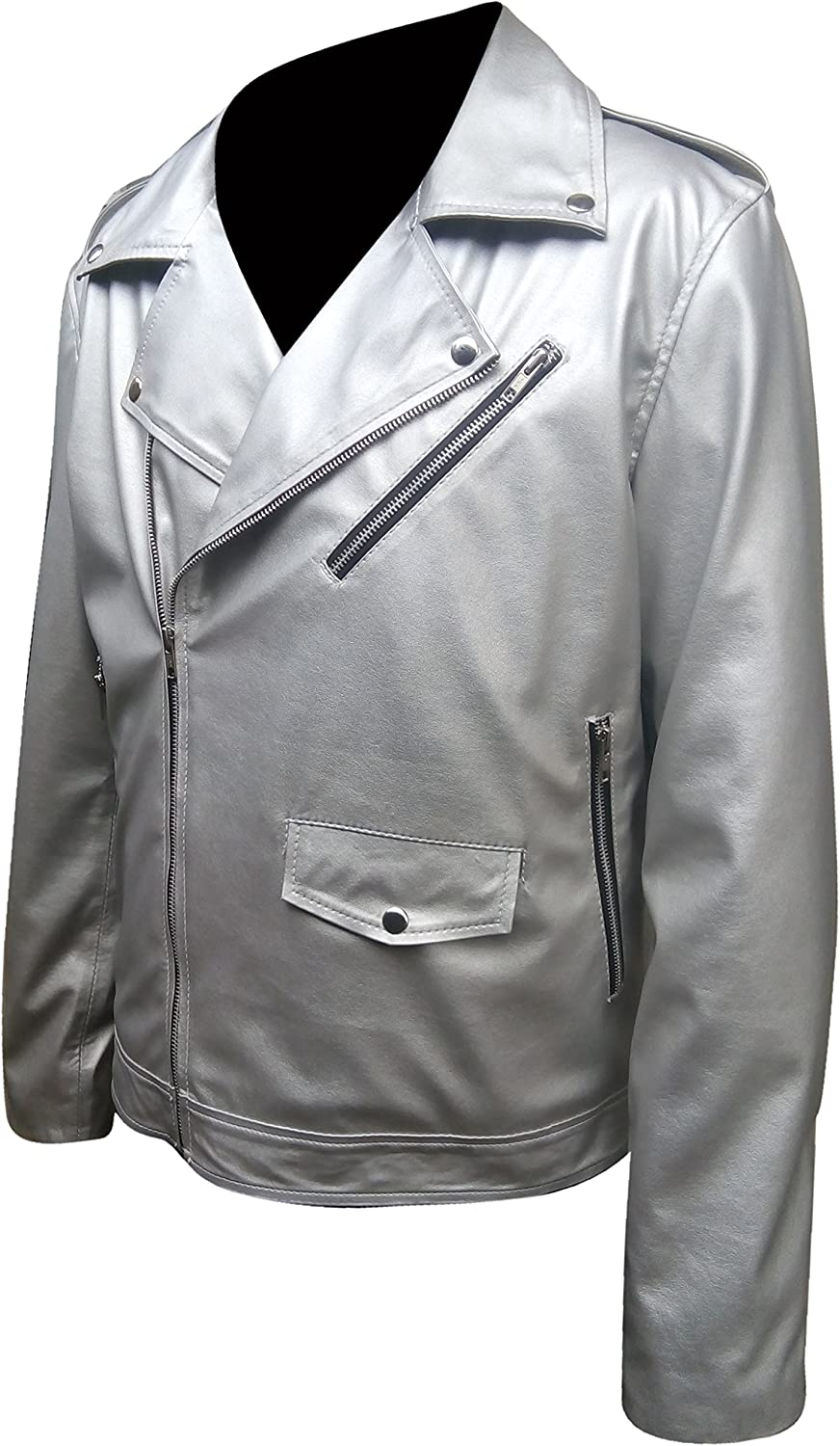 e-clothing2018 Genuine Leather Jacket for Mens White Color