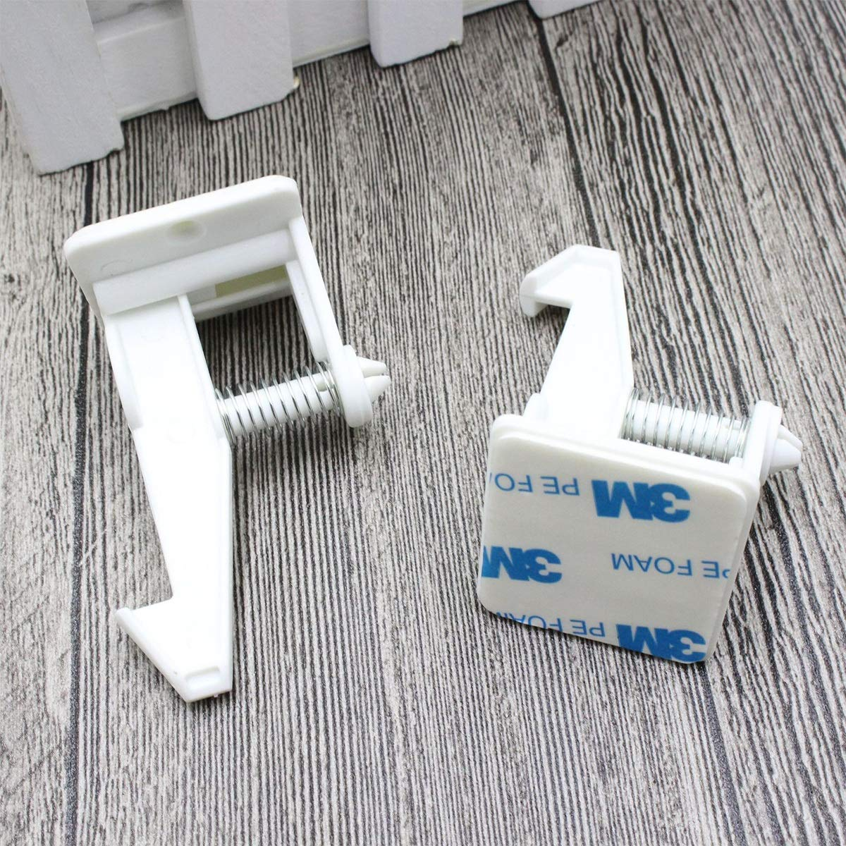 POM cerraduras WC bloqueo de seguridad longitud ajustable ABS PE pulsa for desbloquear YUMEIGE Cierres para armarios Cerraduras de protecci/ón cierres de seguridad para ni/ños a prueba de beb
