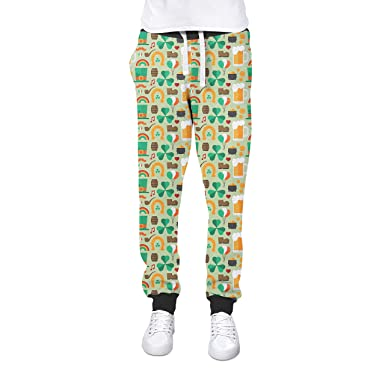 370f0510e Queen of Cases Lucky St Patricks Day Cuffed Joggers Sweatpants Jogging  Bottoms