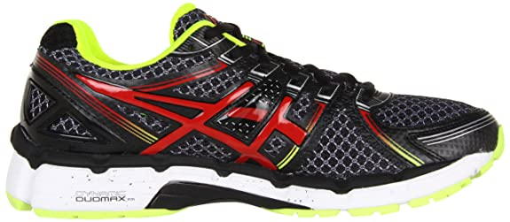 asics kayano 19 black red lime uk