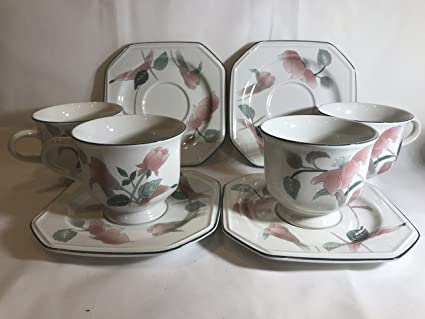Amazon mikasa continental silk flowers footed cup and saucer mikasa continental silk flowers footed cup and saucer set mightylinksfo