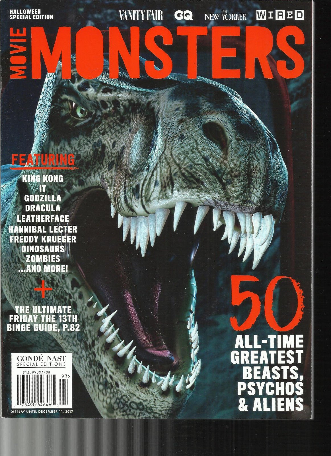 MOVIE MONSTERS MAGAZINE, HALLOWEEN SPECIAL EDITION, 2017