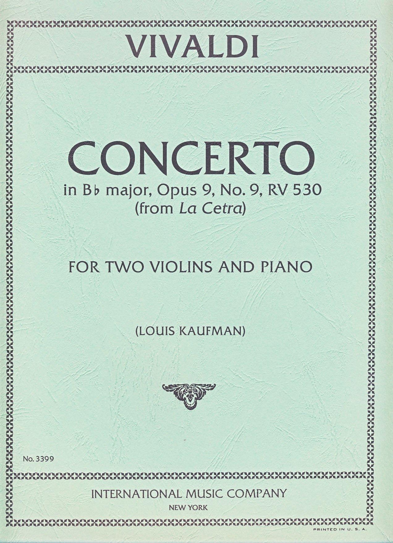 Download VIVALDI - Concierto en Sib Mayor (RV530) Op.9 nº 9 para 2 Violines y Piano (Kaufmann) pdf epub