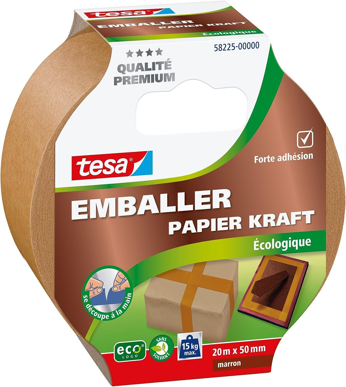00/Kraft Umweltfreundlich Packband 20/m x 50/mm 00000 tesa 58225