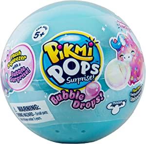 Pikmi Pops Bubble Drops Single Pack - Collectible Squeeze Toy with Glitter Bubble | Fun & Cute Stress Relief Toy